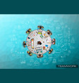 infograph background template with a temworking vector image vector image