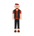 isolated hipster cartoon character vector image