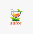 logo juice gradient colorful style vector image