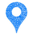 map marker grunge icon vector image vector image