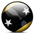 Map on flag button of Federation of Saint Kitts vector image vector image