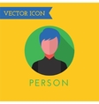 Men Icon Icon Sound tools or Dj and note vector image vector image