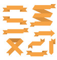 orange banners and arrows vector image vector image