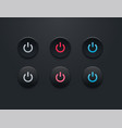 power button icon set - simple flat design vector image vector image