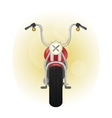 red old styled motorcycle front view vector image