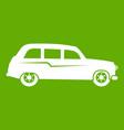 retro car icon green vector image vector image