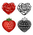 rose and strawberry vector image