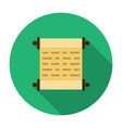 Scroll icon flat vector image vector image