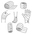 set of medical bandage vector image