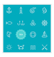 Set of Sea Food Elements can be used as Logo or vector image vector image