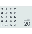 Set of windsurfing icons vector image vector image