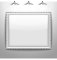 silver frame picture vector image vector image