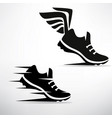 sneaker stylized symbol set vector image