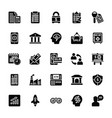 startup and new business glyph icons set vector image vector image