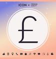 sterling symbol icon vector image vector image