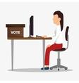 Vote and politician campaign vector image vector image