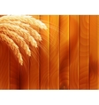 Wheat on wooden autumn background EPS 10 vector image vector image