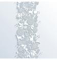 White Christmas season 3d banner seamless pattern vector image vector image
