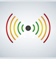 wifi or sound waves fades with distance colored vector image vector image