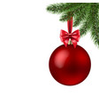 xmas ball isolated vector image vector image