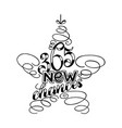 365 chances new year lettering in form of star vector image vector image