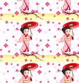 A seamless design with an Asian girl vector image vector image