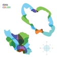 Abstract color map of Iran vector image vector image