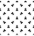 abstract seamless monochrome pattern black and vector image