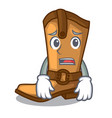 afraid old cowboy boots in shape character vector image vector image