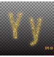 alphabet gold letter y on transparent background vector image
