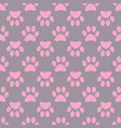 animal paw seamless gray pink pattern vector image vector image