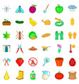 apple icons set cartoon style vector image vector image