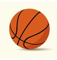 basketball cartoon style vector image vector image