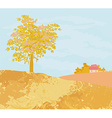 Beautiful autumn rural landscape vector image vector image