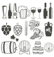 beer and wine vector image vector image