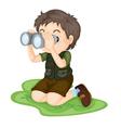 binoculars vector image vector image