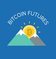 bitcoin futures concept flat icon vector image vector image