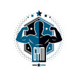 bodybuilding and fitness sport logo templates vector image