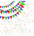 bunting and garlands for birthday card vector image vector image