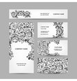 Business cards collection floral design vector image
