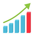business growth flat icon business and financial vector image