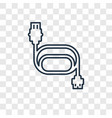cable concept linear icon isolated on transparent vector image