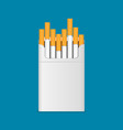 cigarette flat icon vector image