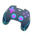 color gamepad flat joystick modern design vector image