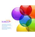 colourful bubble background landscape and text vector image vector image