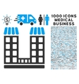 Company Icon with 1000 Medical Business Symbols vector image vector image