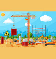 construction site banner vector image