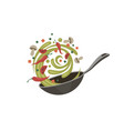 cooking process on pan vector image