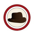 cowboy hat wild west icon vector image vector image