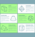 cuboid and blunted prism vector image vector image